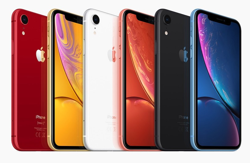 iPhone XR kleuren pallet